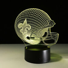 New Orleans Saints LED Light Lamp Collectible Gift Home Decor Drew Brees