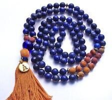 Natural Lapis stone beads 8mm mala bracelet 108 men yoga meditation necklace 8