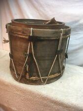 Primitive Mid Century Wood Toy  Drum 1976 Bicentennial 12in x 14.5in Snare
