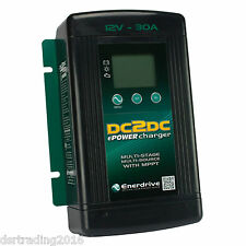 30A DC2DC CHARGER W/ MPPT SOLAR REGULATOR ENERDRIVE EN3DC30 LITHIUM COMPATABLE