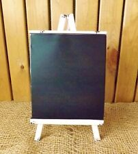 White Distressed Metal Chalk Memo Board Blackboard Easel/Stand Wedding Home
