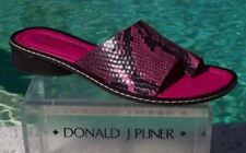 Donald Pliner Couture Python  Leather Shoe New 6.5 Toe Ring Sandal Flat $275 NIB