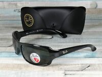 RAY BAN RB4075 601 58 Black Crystal Green Polarized 61 mm Men's Sunglasses