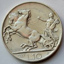 New listing 10 Lire 1927 Italy, Vittorio Emanuele Iii, Biga, Silver coin