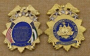 NYPD History of the Commissioner Shield Police CHALLENGE COIN