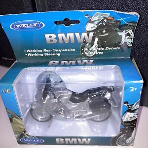 NEW - BMW R1100 Rt Silver Welly 1/18 Scale Motorcycle