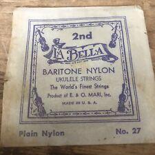 Vintage La Bella Baritone Nylon Ukulele String No. 27