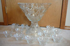 Vintage EAPC Prescut/ Star of David/ punch bowl, stand & 12 punch cups-SALE!!