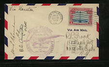 US  first flight New Orleans to Houston 1929 2 pilots  signed          MS1008