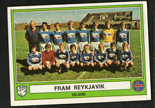 Figurina Euro Football 78 Panini! N.140 Squadra Fram Reykjavik Island! Nuova!!