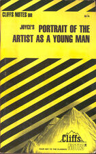 Joyce Portrait Of The Artist As A Young Man Cliff Cliffs Notes Study Guide Book