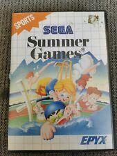Summer Games Video Game for Sega Master System TESTED