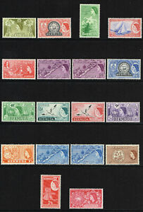 BERMUDA 1953-62 QE II EXTENDED SET TO 5s VERY LIGHTLY MOUNTED & UM SG 135 - 148