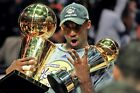 Los Angeles Lakers Kobe Bryant Holding Both Trophies Poster (24x36 inches)