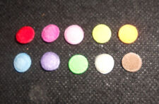 100 pcs Mix colors small Felt Round Center Padded Appliques size 9 mm