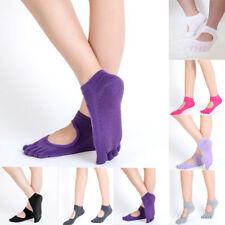 Gym Sports Non-Slip Full Toe Yoga Pilates Ankle Grip Socks Cotton Massage Socks