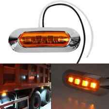 Chrome Bezel LED Side Marker Indicator Light Tail Lamp Car Trailer Truck 12V