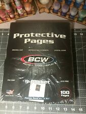 100+ 9 Pocket Pages BCW PRO Binder Cards / Coupon Sleeves with Ultra Protection