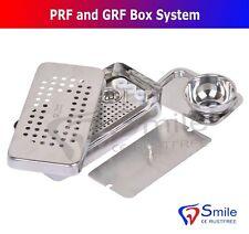 Dental PRF y GRF Caja de acero inoxidable con tazón y Bandeja cirugía Cassette CE