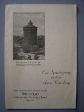 Ancien dépliant touristique  Guide de NUREMBERG Nürnberg