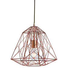 Copper Geometric Cage Frame Shade Ceiling Pendant Light Fitting Home Lighting