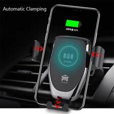 Para iPhone 11 Pro Max Xr X automático de sujeción Inalámbrico Cargador de coche carga rápida