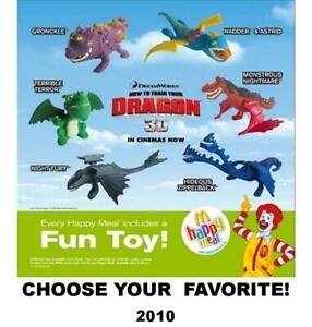 McDonald's 2010/2014 How To Train Your Dragon Collectible Figures/Frisbees-Pick!