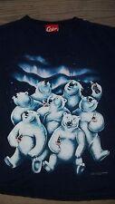 Vintage 90's COKE POLAR BEARS T-Shirt Large COCA-COLA (2 sided)