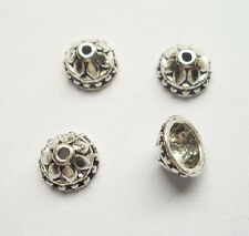 30pcs beautiful Tibet silver Flower End Beads Caps 4.5x8mm