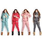 Winter Sports Suit Women Sweatshirts+Waistcoat+Pants Tracksuit Hoodie Set Ornate