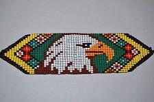 Handmade Glass Seed Bead Loomwork Eagle Bracelet, Colombian Beadwork - Colombia
