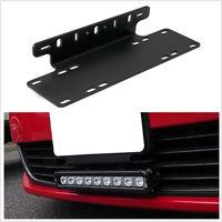 Heavy Duty Front Bumper License Plate Mount Bracket Holder For LED Light Bar 1X
