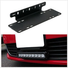 Heavy Duty Front Bumper License Plate Mount Bracket Holder For LED Light Bar 1X