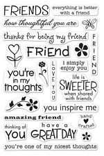 Hero Arts Clear Stamps - Friends - Thoughtful, Hand Crafted, Thoughts