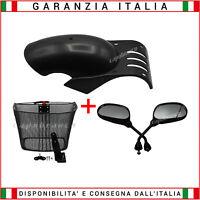 Kit accessori per Monopattino Elettrico Cestino + Specchi + Parafango Lungo