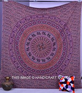 Hippie Indian Tapestry Elephant Mandala Throw Wall Hanging Boho Bedspread Ethnic