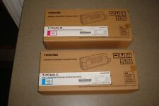 Toshiba T-FC34U-M T-FC34U-C T-FC34U-Y New lot of 4 Toner Cartridge