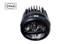 High Power Round Driving LED Bumper ATV JK Wrangler Side Lights 20w CREE (2-PK)