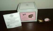 Phb Midwest of Cannon Falls Barbie Compact w/ Powder Puff Porcelain Hinged Box