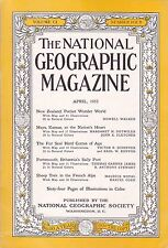 National Geographic April 1952 -- New Zealand, Kansas, French Alps, Seal, coke