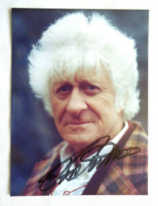 Jon Pertwee Autographed signed Doctor Who 6x8 color still photo