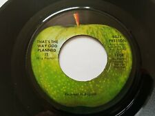 "BILLY PRESTON THAT'S THE WAY GOD PLANNED IT  USA APPLE 7"" Beatles"