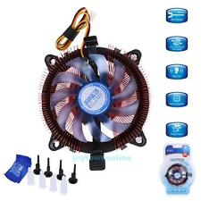For Intel LGA 775/115X AMD AM2/75 CPU Quiet Cooler Cooling Fan Heatsink Radiator