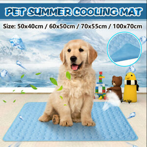 4 Size Self Cooling Pet Mat Summer Non-Toxic Heat Relief Cushion Pad For Dog