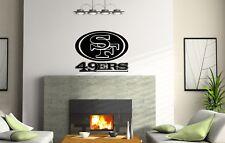 San Francisco 49ERS Wall Decal Vinyl Sticker Emblem mural Decor Logo Football