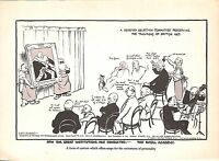 Royal Academy.British Art.Artist.Committee.Low Cartoon.1935.New Statesman.Old