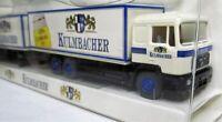 Wiking 1:87 MAN 24.362 UNL Getränkekofferlastzug OVP Kulmbacher - Werbemodell