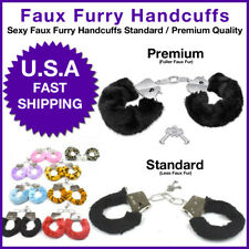 Adult Handcuffs Furry Fuzzy Sexy Slave Hand Ring Ankle Cuffs Tie-up Costume Toys