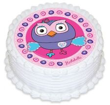 Giggle and Hoot Hootabelle Edible Birthday Party Cake Decoration Topper Image