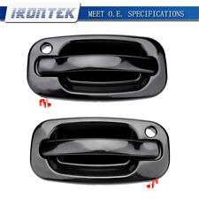 IRONTEK Drivers Rear Outside Door Handle fit 1999-2006 Chevy Silverado GMC Sierra Extended Cab Rear Door handle Exterior Driver side Door Handle